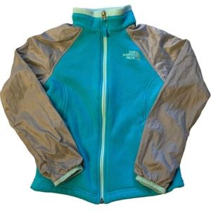 The North Face Youth Girls Blue Grey Fleece Jacket